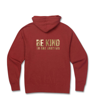Be Kind Zip Hoodie- Rust