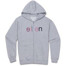 The ellen DeGeneres Show Shop-ellen Show Youth Zip Hoodie- Grey- Front