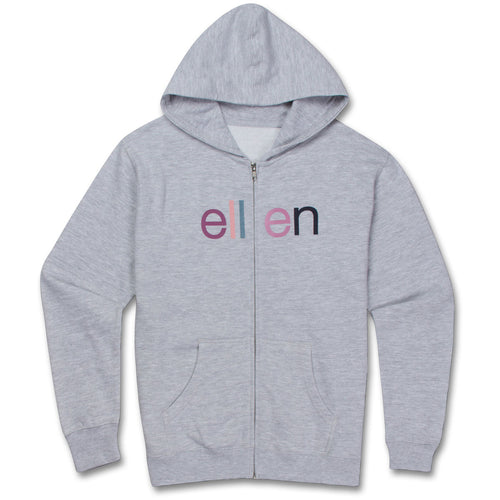 ellen Show Youth Zip Hoodie- Grey
