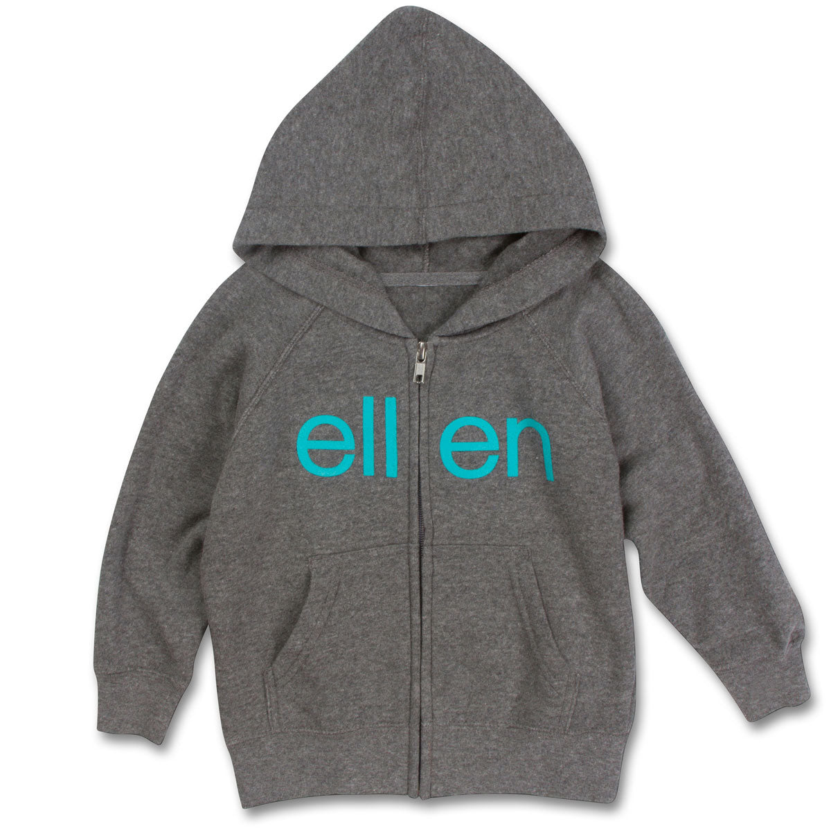 The ellen DeGeneres Show Shop-ellen Show Kid's Popsicle Zip Hoodie- Grey-Front