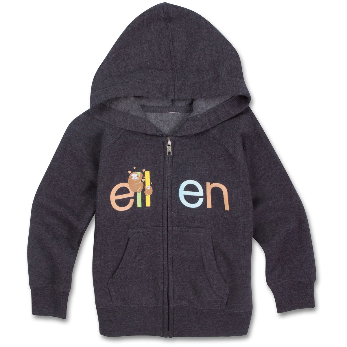 The ellen DeGeneres Show Shop-Sloth Toddler Zip Up- Navy-Front