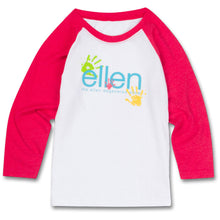 The ellen DeGeneres Show Shop-Kid's Hands Raglan- Red-Front
