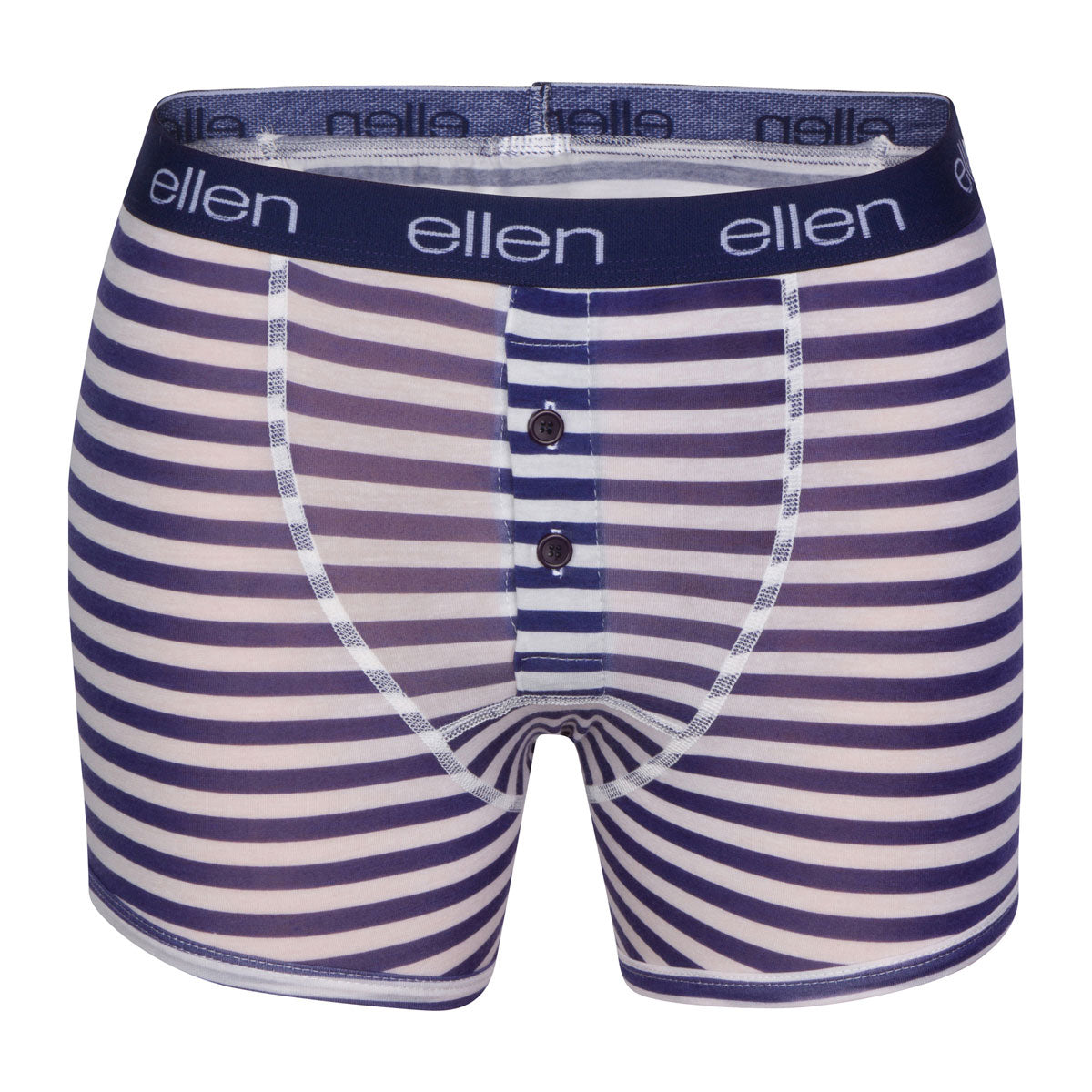 The ellen DeGeneres Show Shop-Lightweight Men's Navy & Stripe Boxers-Navy-Front