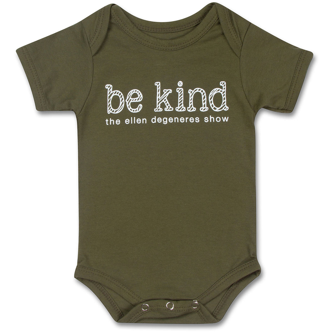 The ellen DeGeneres Show Shop-Be Kind Baby Onesie-Green-Front