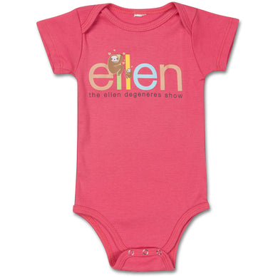 The ellen DeGeneres Show Shop-Sloth Baby Onesie- Red- Front