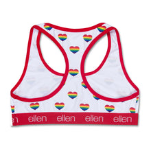 The ellen DeGeneres Show Shop-Rainbow Heart Bralette- Heart- Back