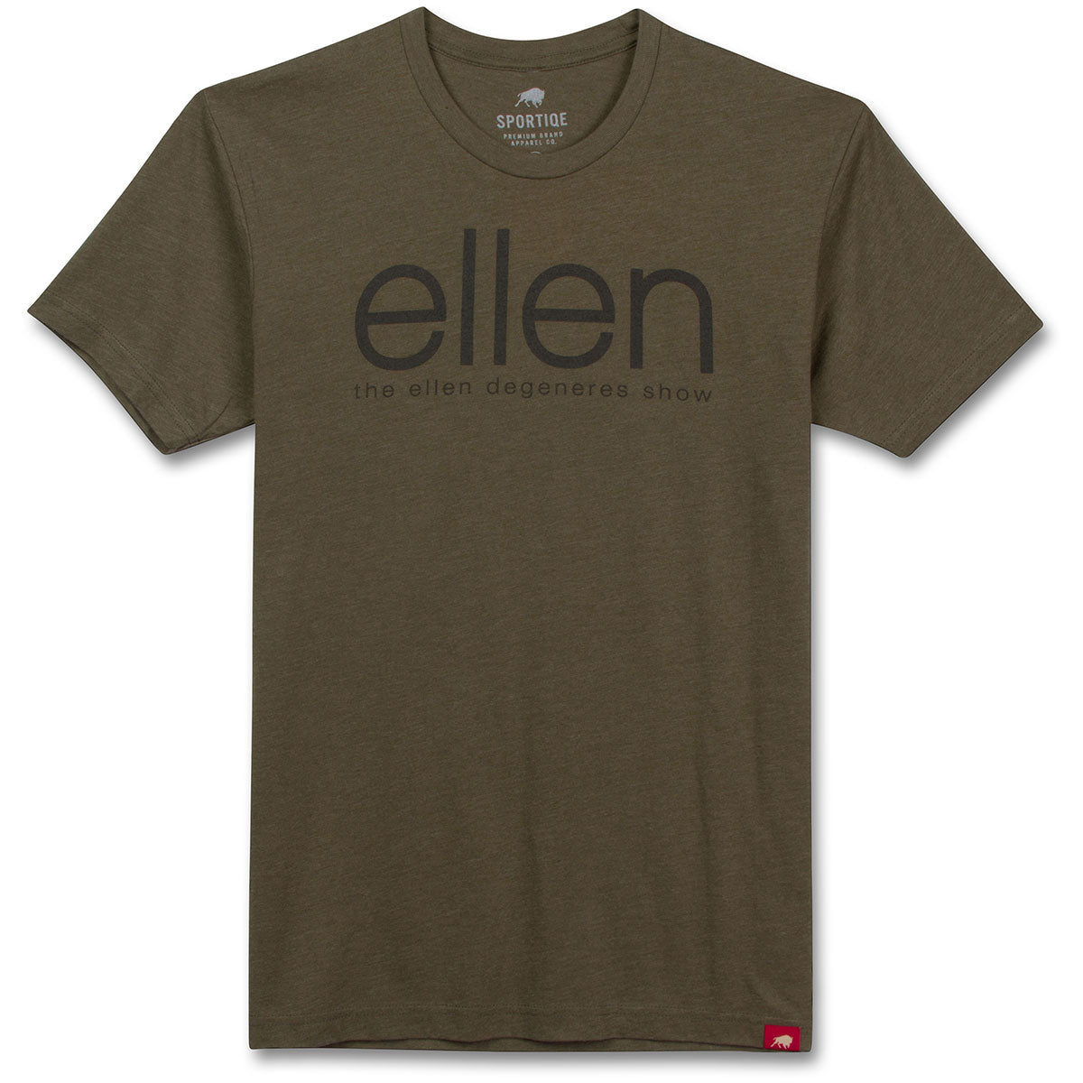 The ellen DeGeneres Show Shop-ellen Tri-Blend T-Shirt- Brown- Front
