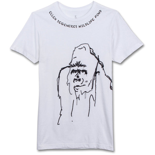 The Ellen DeGeneres Show Shop - The ellen Fund Gorilla Tee - White - tshirt - front