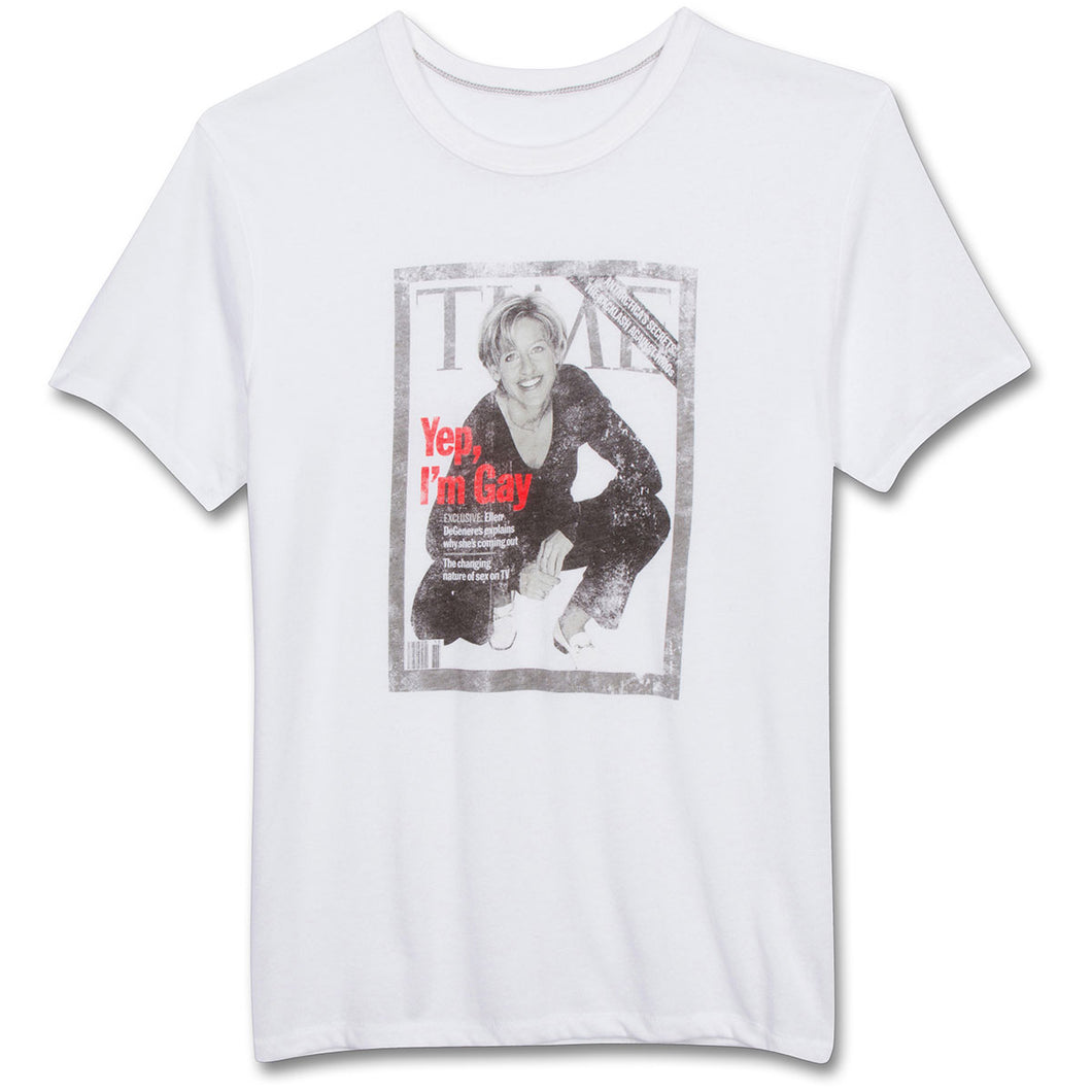 The Ellen DeGeneres Show Shop - Time Magazine T-shirt - White - Front