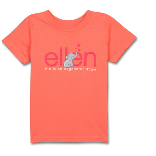The ellen DeGeneres Show Shop-Elephant Toddler Tee-Orange-Front