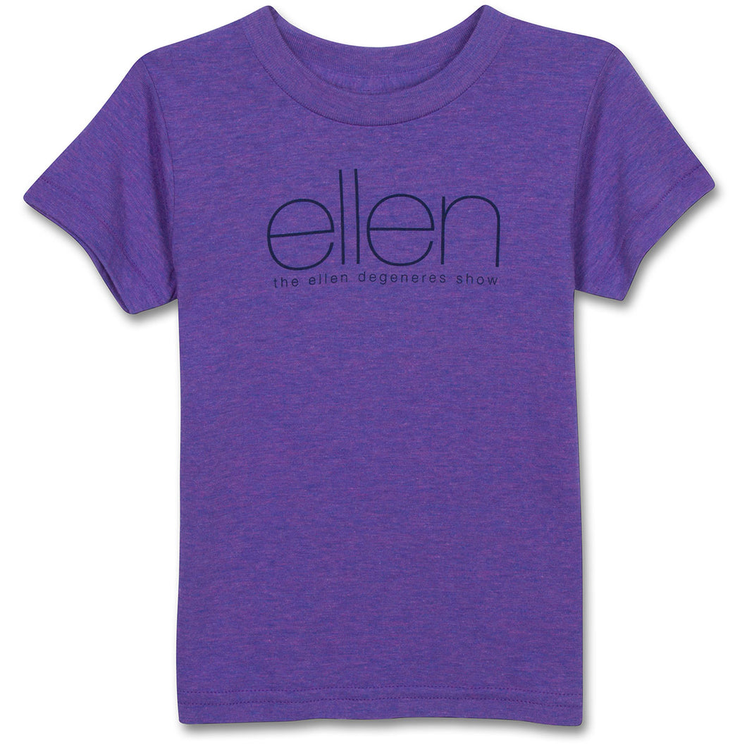 The ellen DeGeneres Show Shop-4 ellen Show Purple Kids Tee- Purple-Front