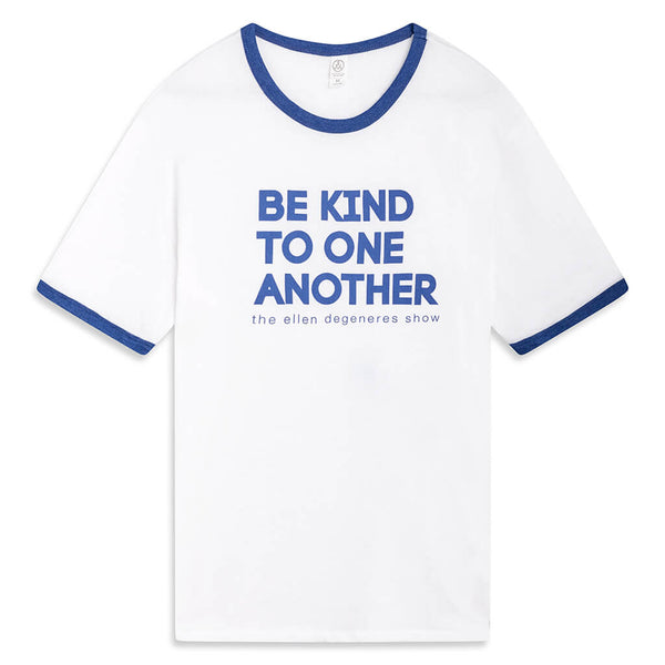 BE KIND. Ringer Tee - Blue