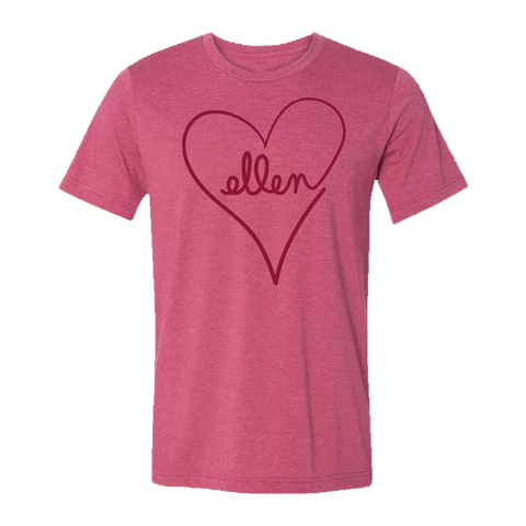 ellen Show Love Month Crew Neck T-Shirt