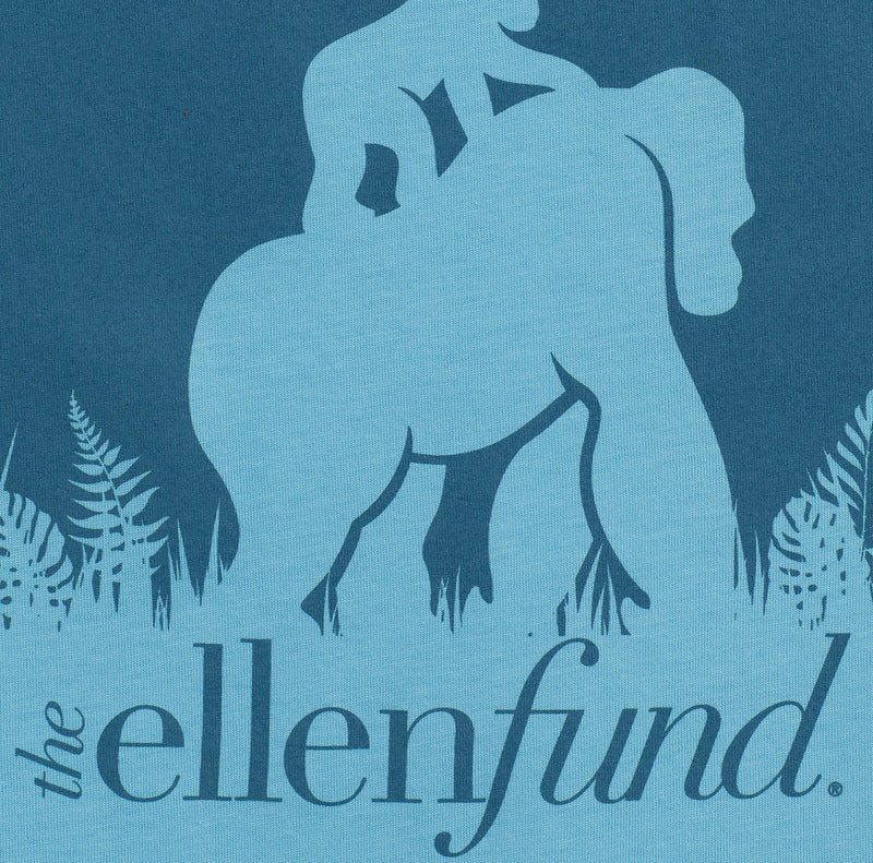 The Ellen DeGeneres Fund Gorilla Summer Tee - Blue - detail  logo close up