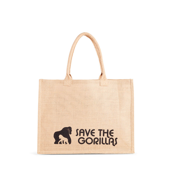 The Ellen Fund Gorilla Jute Tote Bag