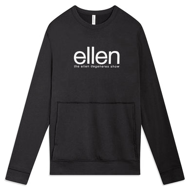Ellen Show Raw Seam Crewneck - Black