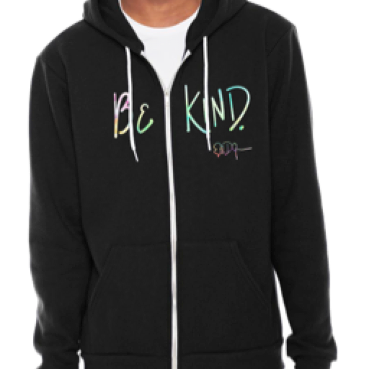 Signature Be Kind Zip Hoodie- Black