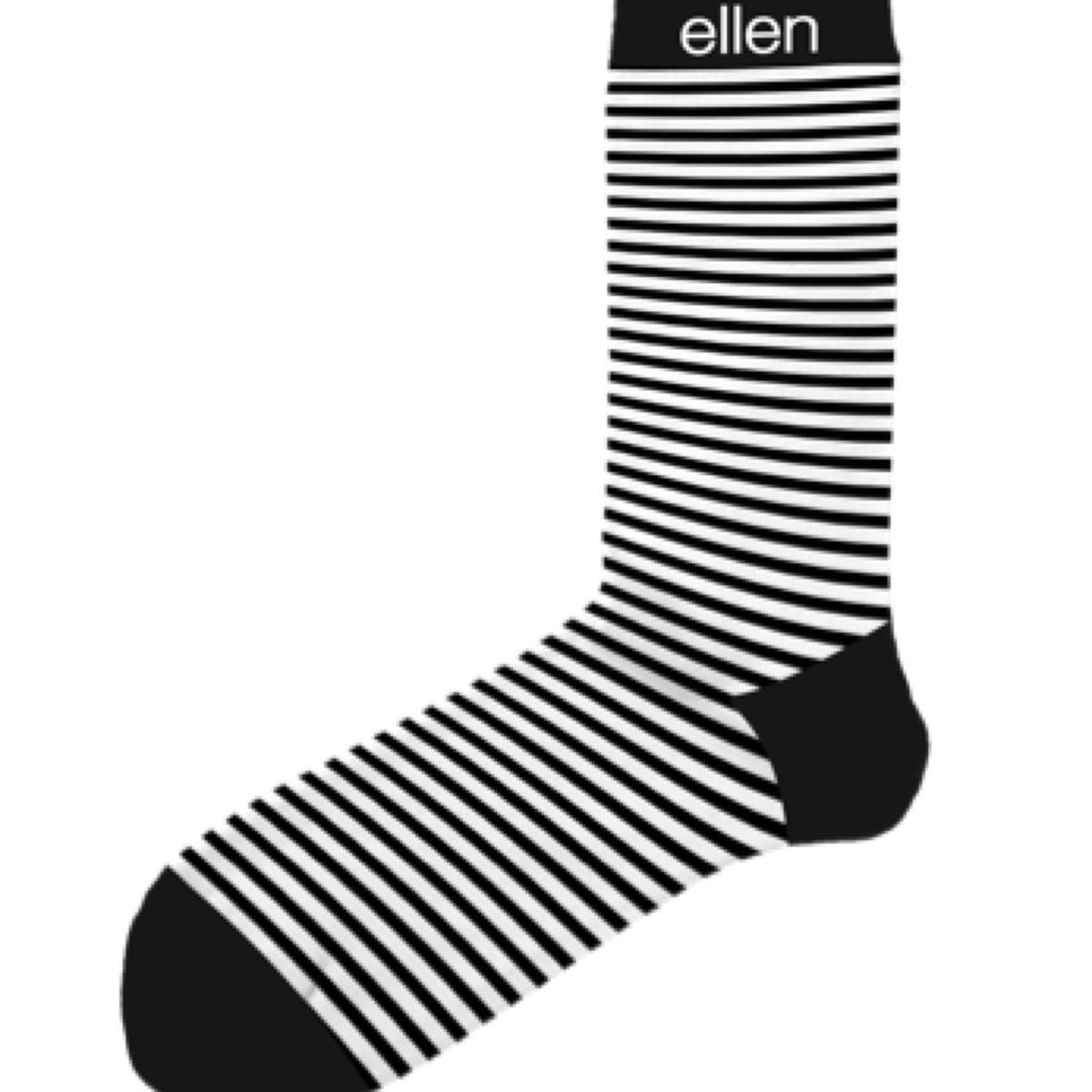 Ellen Show Black & White Stripe Socks