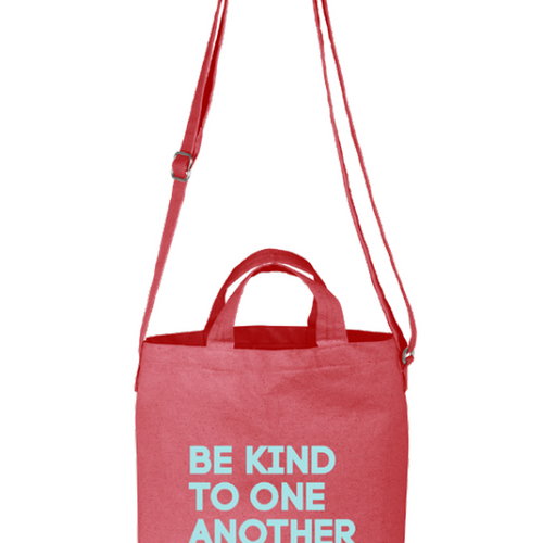 Be Kind Cross-body Canvas Tote