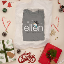 The Ellen DeGeneres Show Shop - ellen Show Holiday Snowman Tee - grey - fold