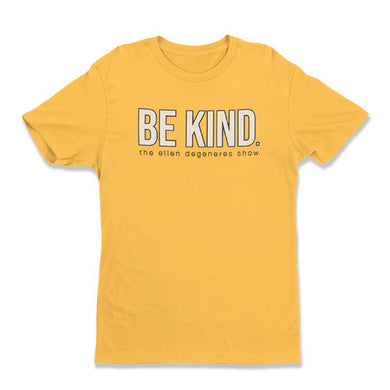 Ellen Show BE KIND. yellow