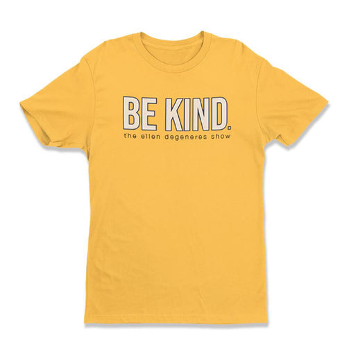 The Ellen DeGeneres Show Shop - BE KIND. yellow tee - front