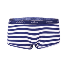 ellen show Women's Lightweight Boyshorts- Blue & White Striped