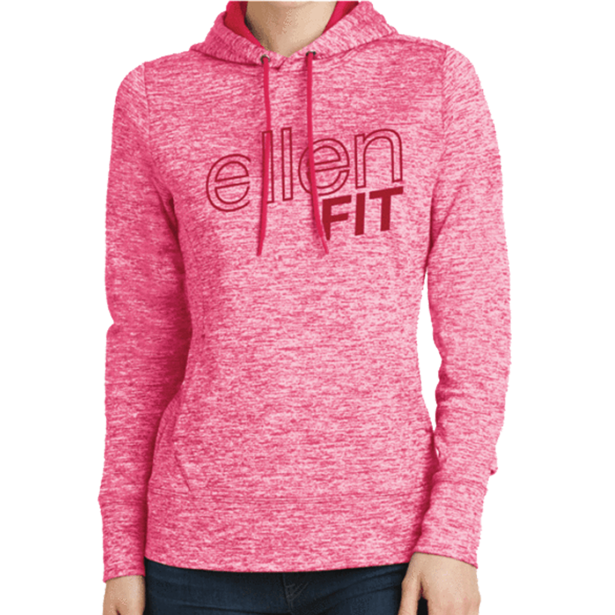 ellen Degeneres clothes fit collection hoodie pink