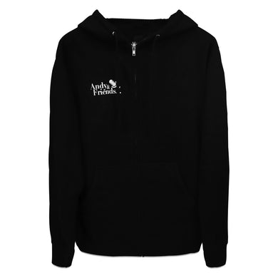 The Ellen DeGeneres Show - Ellen On The Go Podcast - Andy & Friends - Hoodie - Black - Zip Up - Front