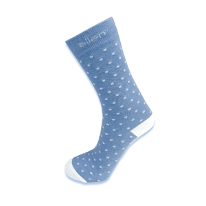 Blue Polka Dot Socks