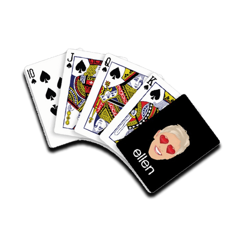 ellen degeneres show emoji playing cards