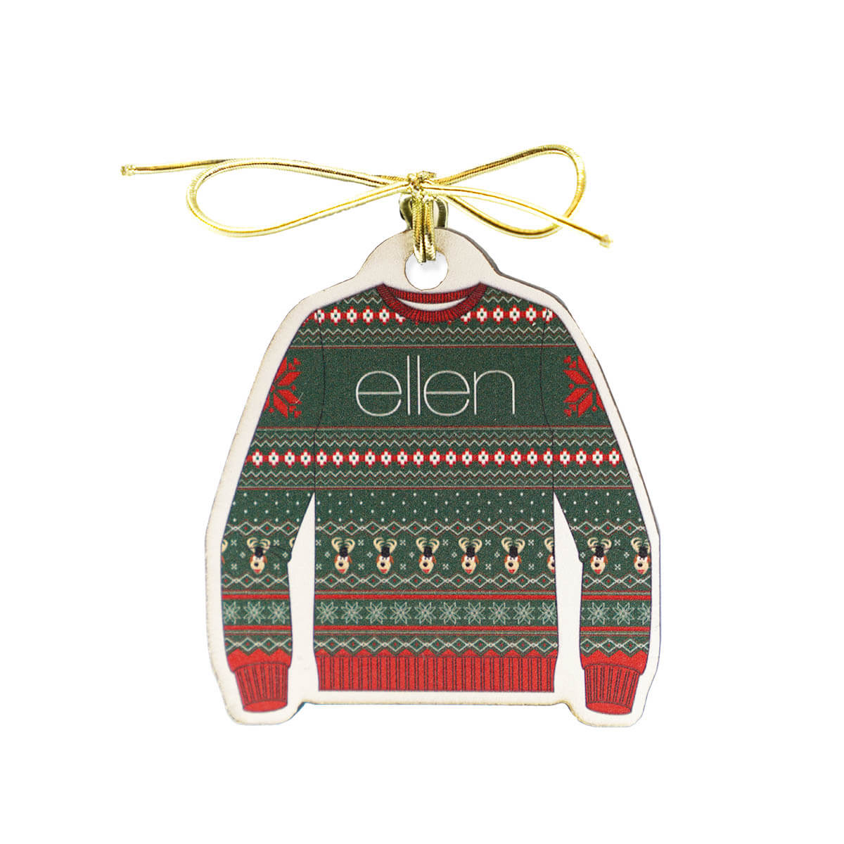 ellen Show Holiday Sweater Ornament