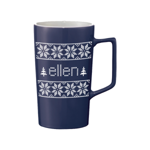 ellen Show Season 15 Holiday Mug- Blue