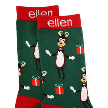 The Ellen DeGeneres Show Shop - ellen Show Holiday Dasher Socks - Green - top detail