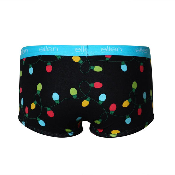 Season 16 Women's Holiday Boyshorts-Lights