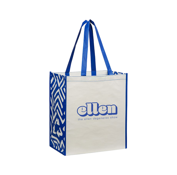 Ellen Show Shopper Tote - Blue & White
