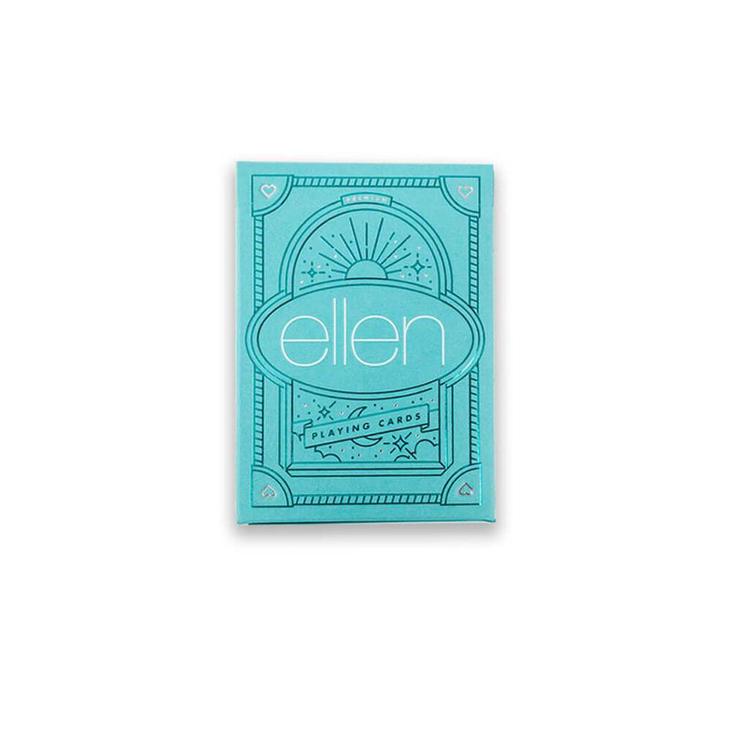 The ellen Degeneres show Shop- Be Kind. by ellen Playing Cards- Blue- Front-Stacked
