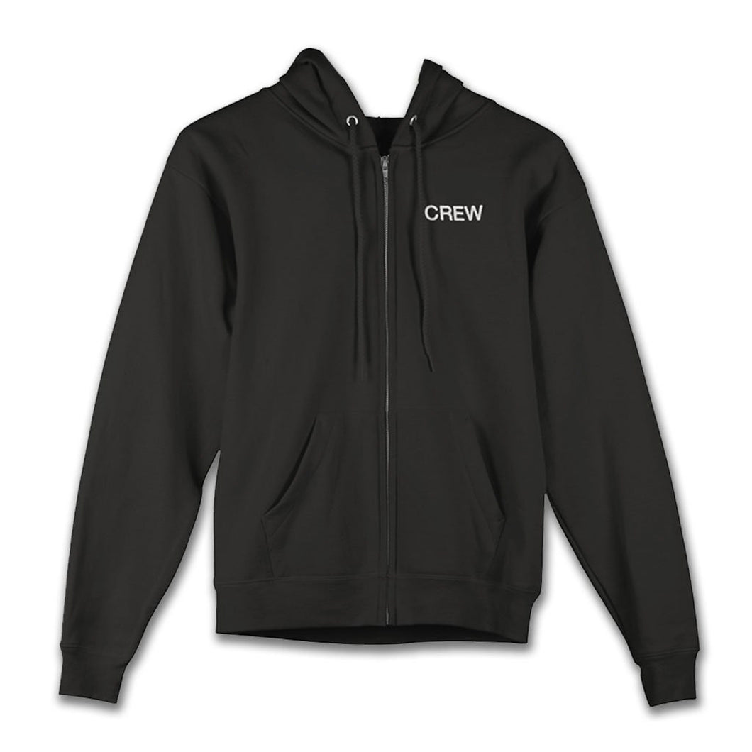 The ellen DeGeneres Show Shop-The Relatable Tour Zip Hoodie- Black-Front
