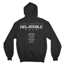 The ellen DeGeneres Show Shop-The Relatable Tour Zip Hoodie- Black- Back
