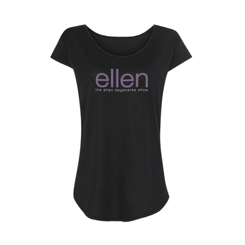 Season 14 Ladies Scoop Neck Tee Black