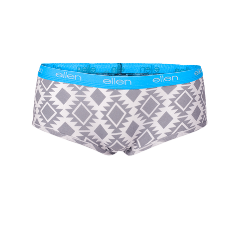 Women's Boyshorts Tribal Grey