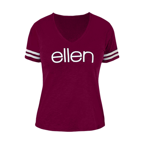 Sporty Club T-Shirt - Maroon