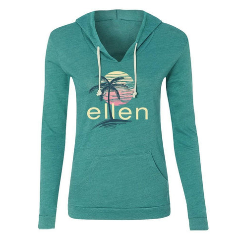 Green Jersey Pull Over Hoodie
