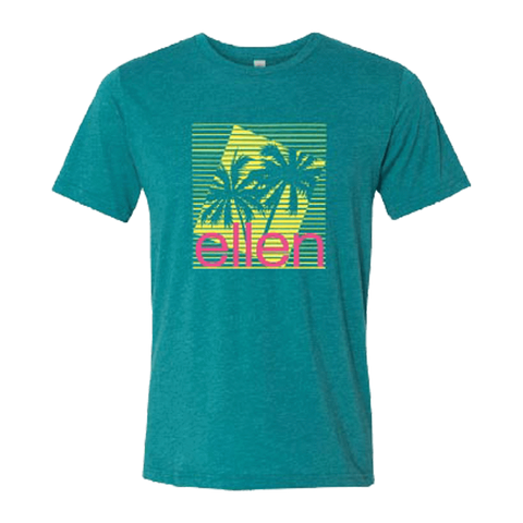 ellen degeneres Show Shop Summer Palm Tree T-Shirt-1