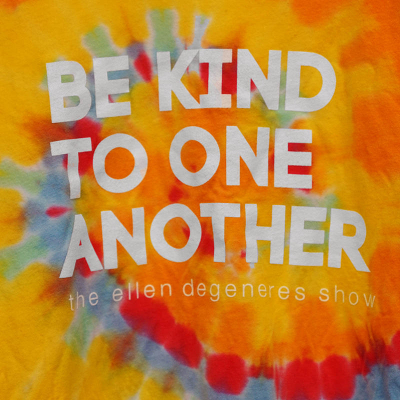 The Ellen DeGeneres Show Shop - Be Kind Tie Dye Tee - Multicolor - Detail
