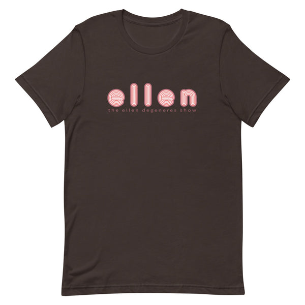 Ellen Show Outline Logo Tee - Brown