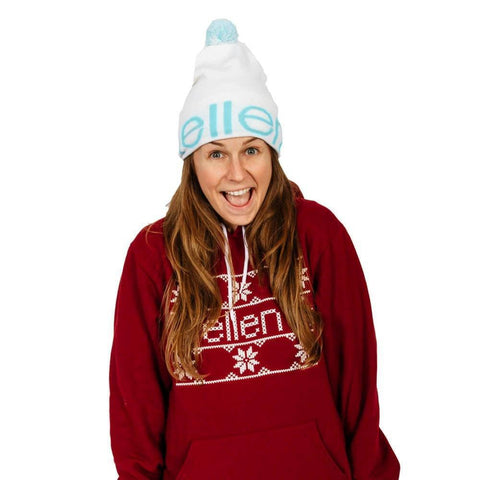 ellen Show Winter Beanie - White