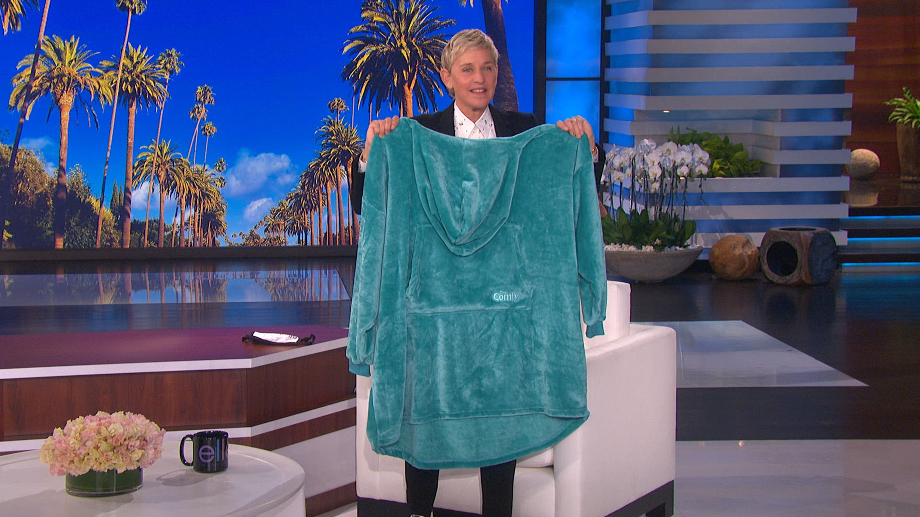Get Cozy with This New Oversized Ellen Blanket Hoodie!