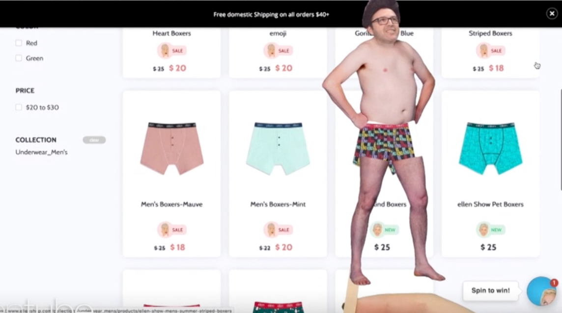 Average Andy Tries on Ellen Underwear