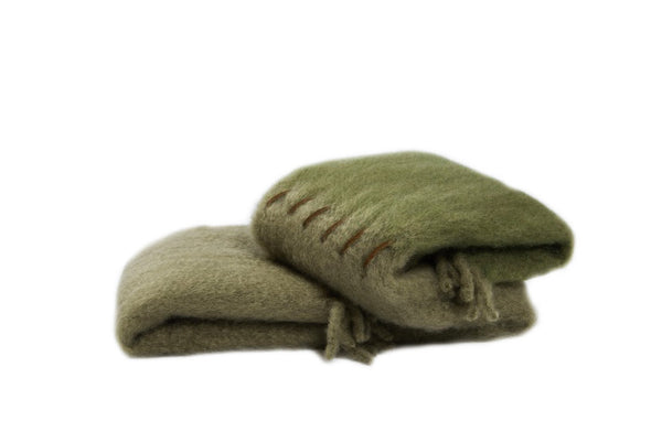 Green | Suede Stitching | Blanket